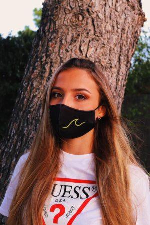 Mascarilla Higiénica Reutilizable Sofia Surferss Negra