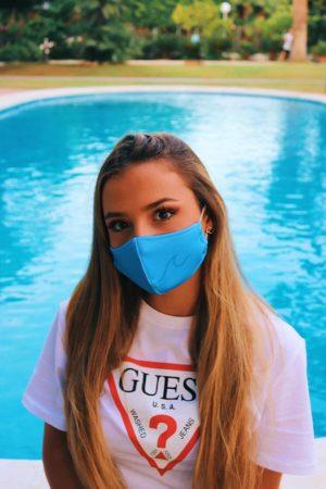 Mascarilla Higiénica Reutilizable Sofia Surferss Azul